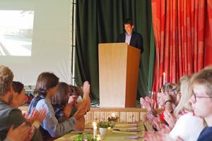 I samband med avslutningslunchen talade rektor Magnus Arreflod  om att engagera sig i lokalsamhället för att vara med och påverka.