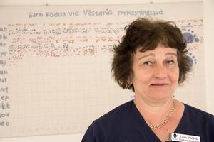 Lena Ahlbin, klinikchef på kvinnokliniken vid Västmanlands sjukhus i Västerås.