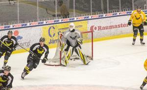 Jesper Wallstedt under sin andra A-lagsträning med VIK Hockey.
