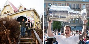 NHL-spelaren Alexander Steen och hustrun Josefine köpte Villa Bergklint i Njurunda av Göran och Agneta Grundström. Arkivbilder: Maria Eilertsen och Jesper Åström
