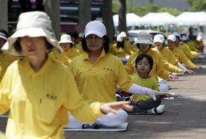 Falun Gongutövare i Sydkorea.