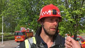 Erik Bäck, räddningsledare på Räddningstjänsten Dala Mitt.
