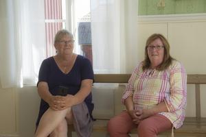 Inga-Lena Olsson och Sonja From, de talangfulla konstnärerna som ligger bakom alla konstverk på utställningen.