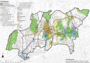 Så här ser det aktuella förslaget ut för hur marken i Kumla kommun kan komma att användas de kommande 20 åren.