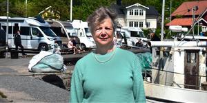 Marianne Bjarneskans är ordförande i Grisslehamns sportklubb som arrangerar Grisslehamnsdagen, ett namn som Karl Engström protesterade emot eftersom han har varumärkesskyddat ordet Grisslehamn.