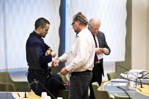 Peder Hägglöf vid mordrättegång i Västmanlands Tingsrätt