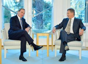 Statsminister Stefan Löfven tillsammans med Finlands sittande president Sauli Niinistö. Bild: Henrik Montgomery/TT