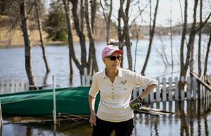 Åsa Nilsson, 85, har inte varit med om något liknande sedan översvämningarna 2001.