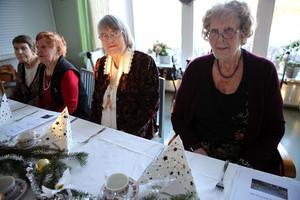 Kerstin Wall, Märta Olsson, Monica Eriksson, Evy Östfalk uppskattar satsningen på maten.