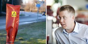 Trafikverkets enhetschef Henrik Sundquist förklarar varför man ännu inte har åtgärdat de belysningar som varit bortkörda eller felande i Ånge kommun.