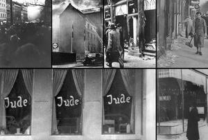 Kollage med bilder tagna den 9-10 november 1938. Foto: TT