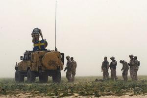 Personterrängbil 6 Galten och svenska styrkor i Afghanistan.