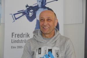 Kari Korpela är tränare på skidskyttegymnasiet som har tilldelats tolv platser med riksintag fördelat på tre år framåt. Foto: Jonny Dahlgren/arkiv