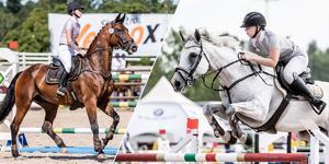 Denise Svedberg och Malva Pettersson tävlar båda i youngrider-SM under veckan.