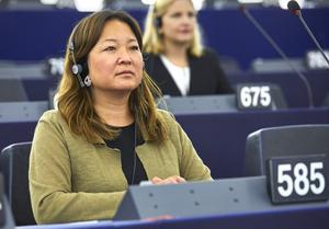 Jessica Polfjärd är Europaparlamentariker för Moderaterna. Foto: Fredrik Persson / TT