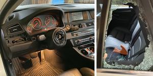 Bilden är en arkivbild från en liknande rattstöld från en BMW i Säter, men inte från någon stöld i Köping. Foto: Privat.