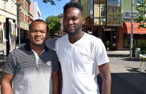 Friday Onyemaechi och Abel Ekemba räknar med god uppslutning i Lindans bystuga på lördag.