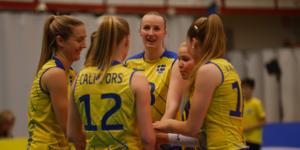 Linda Andersson, här i svenska landslaget men till vardags i Örebro Volley.