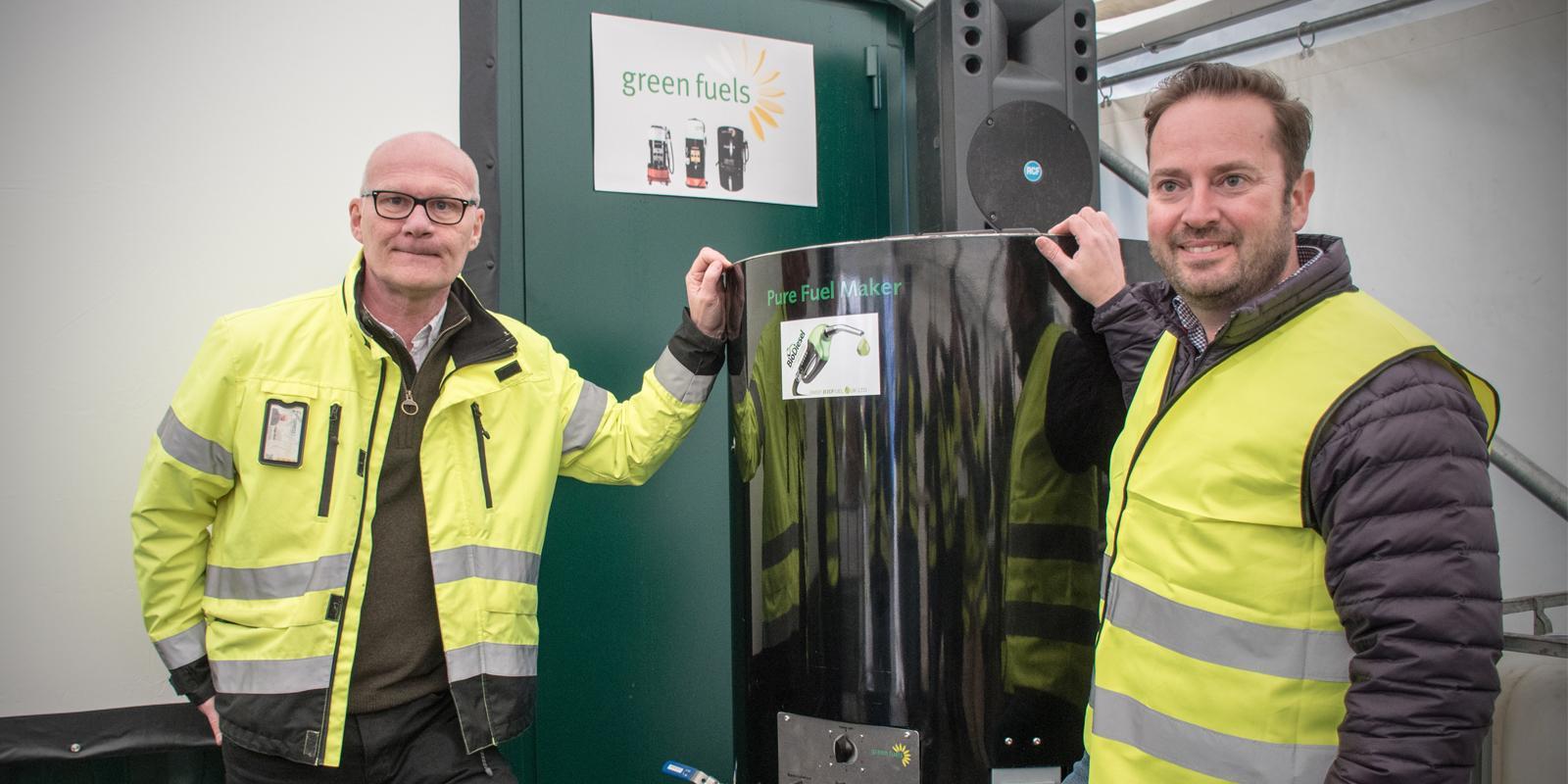 Roger Blom, VD för Ernst Express, och James Hygate, VD för Green Fuel.
