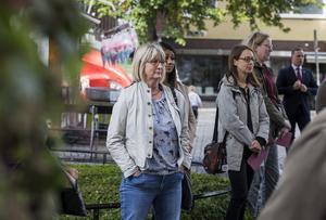 Karin Örjes, Elina Brodén, Nicole Skoglund och Elin Åman lyssnade. Foto: Henrik Hansson