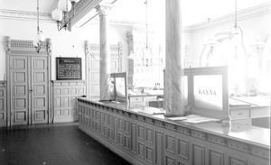 Tidig bankinteriör visar att många detaljer är bevarade. Foto: Atelje Carl Larsson/Länsmuseet Gävleborg