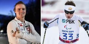 Felix Monsén och Zebastian Modin är två av 75 elitidrottare som nu får stöd för att kombinera elitsatsning i sina sporter med studier. Arkivbild: TT (Montage)
