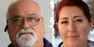 Ordförande Kent Forschner-Hell och Larissa Karlsson, tidigare vice ordförande.