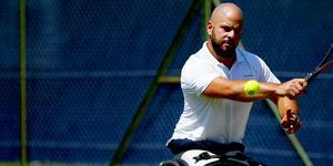 Falu TK:s Stefan Olsson är klar för Wimbledons dubbelfinal. Foto: Getty Images