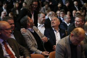 Rickard Sundbom, stadsdirektör, Kristina Palm, KTH, och Juan Copovi Mena, Telgekoncernen.