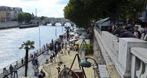 Nu är Paris plage öppen i den franska huvudstaden.