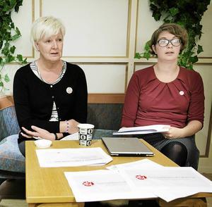 Tyvärr fortsätter det nya landstingsrådet Elin Norén (S) (till höger) den politiska retorik som präglade förra landstingsrådet Ingalill Perssons (S) styre.