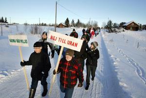 Demonstration mot uranbrytning i Fåker 2008.