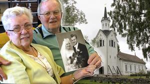Gunni och Ove Lindström har hållit ihop sedan 1955, och den 16 maj 1959 blev de tu ett i Los kyrka.