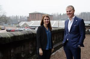 Magdalena Hallberg, HR-chef hos Stora Enso, och Per Lyrvall, bolagets Sverigechef var två av talarna under basindustridagarna i Avesta under fredagen.