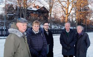 Utsikten från Villa Asea får inte skymmas, enligt villkoren för bygget. Bo Vesterberg, Anna-Lena Rosenberg, Jonas Selmeryd, Uwe Rosenberg och Rolf Falkland tycker att större hänsyn ska tas till området runt omkring.
