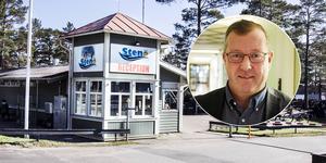 Kommunens näringslivschef Hans-Göran Karlsson berättar att förhandlingarna med Grönklittsgruppen om Stenö camping har avbrutits.