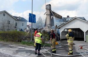 Villan som brann ner i Ånge.