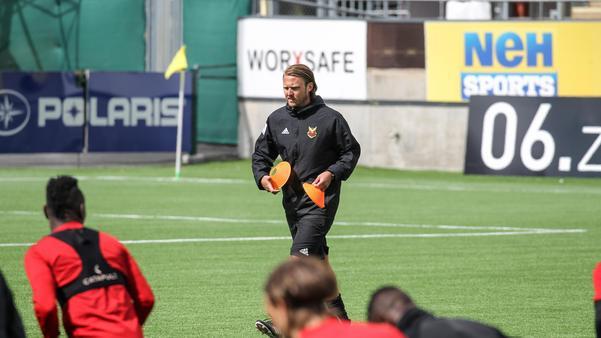 Björn Hamberg under onsdagens träning.