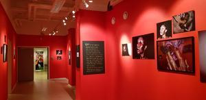 Nova är en plats för möten och skapande, där ungdomar gavs möjlighet att visa foton och konst på den rödmålade väggen.