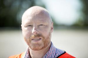 Jörgen Flank, terminaldirektör på Yilport, hoppas att de får uppdraget att ta emot delar till vindkraftverk även nästa år.