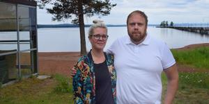 Linn och Magnus Ollas startar – redan om några dagar – en strandservering med aktiviteter mellan Sjövillan och strandlinjen.