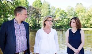 Socialdemokraterna har brutit samarbetet med Vänsterpartiet i Gävle. På bilden: Jörgen Edsvik, S, Åsa Wiklund Lång, S, och Gin Akgul Hajo, V.