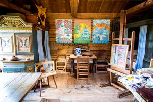 Mårten Anderssons konst är ljus och färgrik.