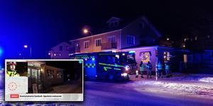 Räddningstjänsten ventilerade byggnaden, som var rökfylld när de kom dit.