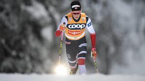 Johannes Höstflot Kläbo imponerade och vann även jaktstarten i Ruka. Bild:
