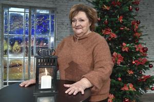 Marianne Mörck presenteras som årets julvärd i SVT under en pressträff i TV-huset. Foto: Claudio Bresciani