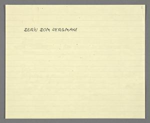 Nu kan alla skriva som Bergman. Foto: Bergmanstiftelsen
