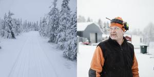 Mikael Danielsson anser att det är viktigt att skidspåren öppnas tidigt.