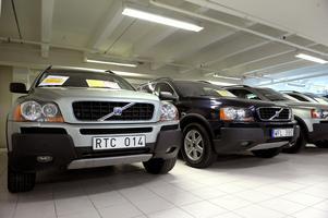 Volvo populärt objekt för de som köper begagnat hos bilhandeln.Foto Janerik Henriksson / SCANPIX /