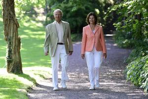 Kung Carl XVI Gustaf och drottning Silvia.